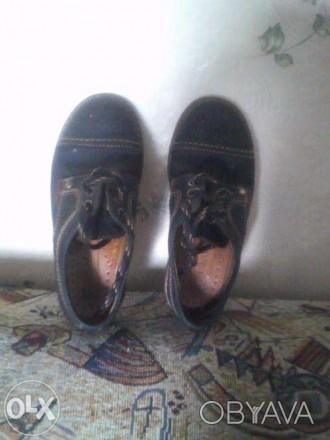 Кожаные детские туфли для мальчика в отличном состоянии. Запоріжжя, Запорізька область. фото 1
