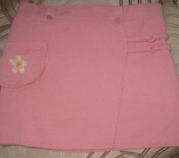 Юбка вельветовая для девочки на подкладке в отличном состоянии. Цвет -розовый. С. Житомир, Житомирская область. фото 2