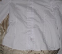 Блузка для школы, тип-рубашечный. Размер -140,цвет-белый, ткань рубашечная 100% . Житомир, Житомирская область. фото 4