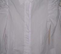 Блузка для школы, тип-рубашечный. Размер -140,цвет-белый, ткань рубашечная 100% . Житомир, Житомирская область. фото 5
