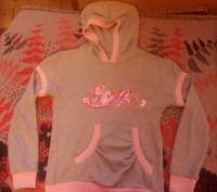 Продам красивую кофточку (100% хлопок) с капюшоном, карманом и надписью Stella и. Запоріжжя, Запорізька область. фото 2
