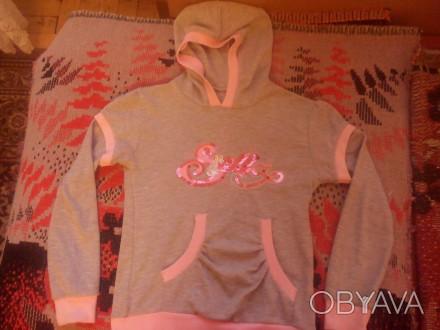 Продам красивую кофточку (100% хлопок) с капюшоном, карманом и надписью Stella и. Запоріжжя, Запорізька область. фото 1