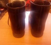 Продам ботинки ортопедические кожаные чёрного цвета утеплённые. Изготавливали на. Запорожье, Запорожская область. фото 4