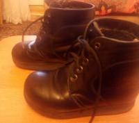 Продам ботинки ортопедические кожаные чёрного цвета утеплённые. Изготавливали на. Запорожье, Запорожская область. фото 2