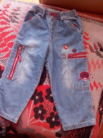 Продам плотненькие свободные джинсы для мальчика 4-5 лет с удобной резинкой. Дли. Запоріжжя, Запорізька область. фото 1