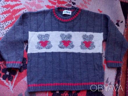Продам теплый свитерок для мальчика 3-4 лет. Очень мягкий, не колючий, можно под. Запорожье, Запорожская область. фото 1