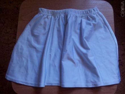 Продам юбку белую для танцев стрейч девочке. Размер -М, Талия -48см, длина юбки . Запоріжжя, Запорізька область. фото 1