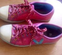 Продам красивые розовые кеды для девочки (для 4-5 класса в школу на физкультуру). Запоріжжя, Запорізька область. фото 2