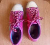 Продам красивые розовые кеды для девочки (для 4-5 класса в школу на физкультуру). Запоріжжя, Запорізька область. фото 4