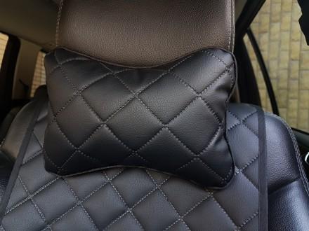 Подушка подголовник из экокожи. Автомобильная подушка на подголовник Подушка под. Киев, Киевская область. фото 9