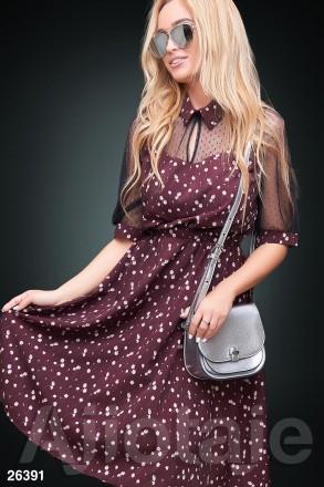 Модное эффектное платье 26391 цвета. Киев. фото 1