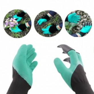 Садовые перчатки с когтями Garden Genie Gloves. Одесса. фото 1