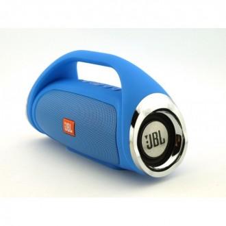 Портативная FM MP3 колонка JBL Boombox mini bluetooth microSD/TF и USB Синяя. Измаил. фото 1