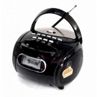 Портативная колонка бумбокс MP3 USB радио Golon RX 186 приёмник Чёрный. Измаил. фото 1