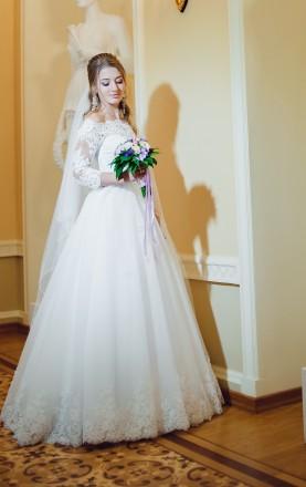 Продам свадебное кружевное платье. Сумы. фото 1