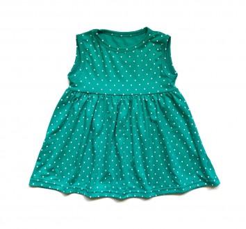 Детское платье мятное в горошек Andriana Kids 80. Львов. фото 1