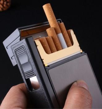 Кейс для пачки сигарет с зажигалкой. Подарок для мужчин. Портсигар. Харьков. фото 1