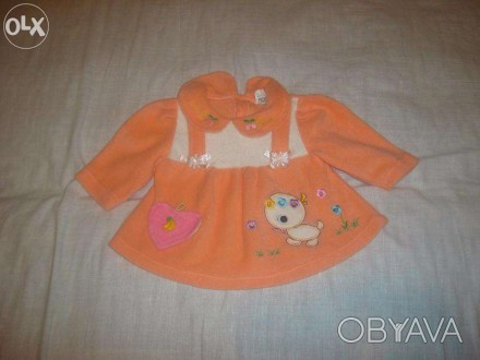 Платье флисовое. Длина платья - 35 см, длина рукава -21,5 см.. Запорожье, Запорожская область. фото 1