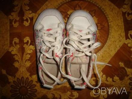 Кроссовки Adidas, кожа+текстиль, длина стельки - 18,5 см. Запорожье, Запорожская область. фото 1