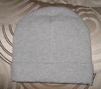 шапка теплая двойная . Цвет -серый. Ткань -итальянский плотный трикотаж.  Диамет. Житомир, Житомирская область. фото 4