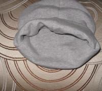 шапка теплая двойная . Цвет -серый. Ткань -итальянский плотный трикотаж.  Диамет. Житомир, Житомирская область. фото 3