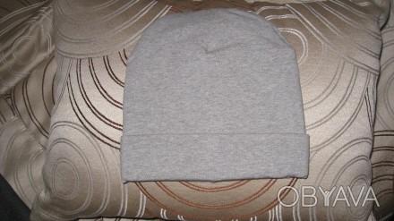 шапка теплая двойная . Цвет -серый. Ткань -итальянский плотный трикотаж.  Диамет. Житомир, Житомирская область. фото 1