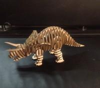 Продам конструктор 3d пазл динозавр (triceratops) ,(ТРИЦЕРАТОПС ). Киев. фото 1