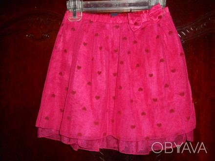 1)Фатиновая юбка на 5 лет,пышная,на подкладке,пояс резинка,в отличном состоянии,. Киев, Киевская область. фото 1