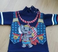 Синий теплый свитер 2-3 года на байке. Очень теплый, мягкий, приятный к телу. За. Киев, Киевская область. фото 2
