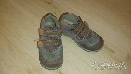 Продам осенние туфли-кроссовки кожаные р.24 в хорошем состоянии. Киев, Киевская область. фото 1