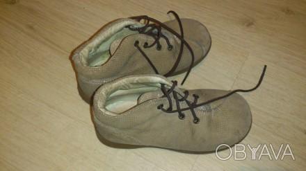 Продам осенние кожаные туфли на шнурках в очень хорошем состоянии р.26. Київ, Київська область. фото 1