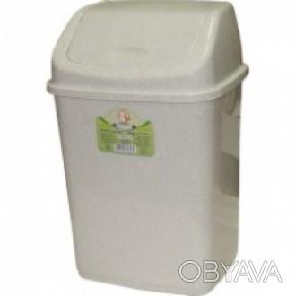 ВП-18 Контейнер для мусора с качающейся крышкой, 18 л. Корзина для мусора из выс. Киев, Киевская область. фото 1