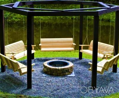 Группа качель Furniture-Tokar Relax из дерева. Шикарные качелиRelax из дерева.. Тячев, Закарпатская область. фото 1