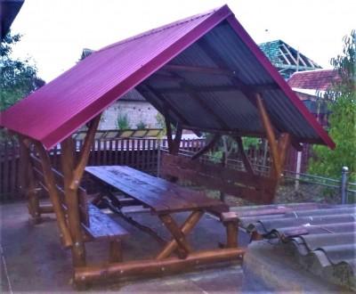 Деревянная альтанка «Дикарь» 250х200 от производителя для сада и дома. Тячев. фото 1