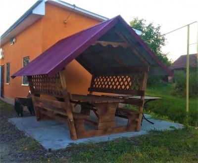 Деревянная альтанка «Стандарт 2+» 300х200 от производителя для сада и дома. Тячев. фото 1