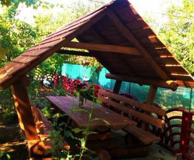 Деревянная альтанка «Комфорт+» 250х200 от производителя для сада и дома. Тячев. фото 1