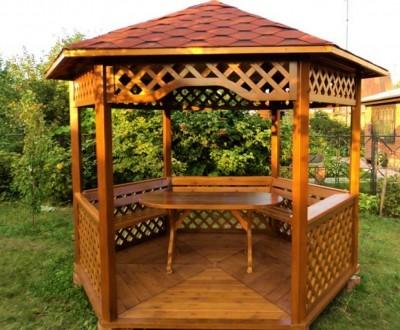 Деревянная альтанка «Лесничек» 250х250 от производителя для сада и дома. Тячев. фото 1