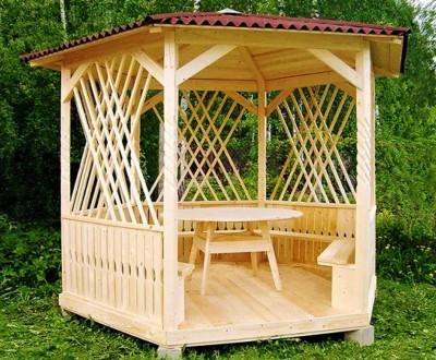 Деревянная альтанка «Мечта» 250х250 от производителя для сада и дома. Тячев. фото 1