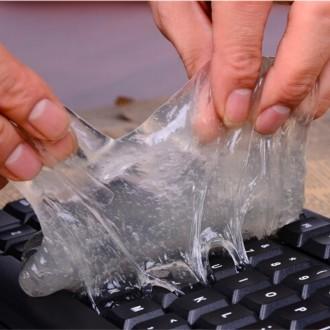 Гель лизун для чистки легко удалит грязь или пыль с клавиатуры компьютера или но. Одесса, Одесская область. фото 2