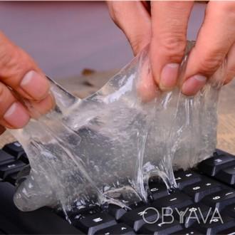 Гель лизун для чистки легко удалит грязь или пыль с клавиатуры компьютера или но. Одесса, Одесская область. фото 1