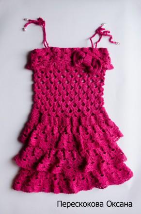 Сарафан для девочки 3-5 лет цвета фуксии. Винница. фото 1