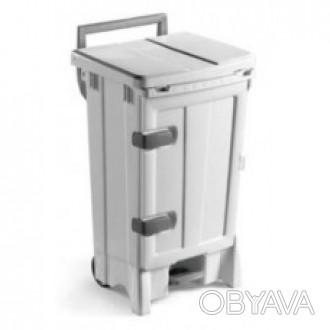 Контейнер для мусора OPEN-UP. Изготовлен из ударопрочного пластика белого цвета.. Киев, Киевская область. фото 1