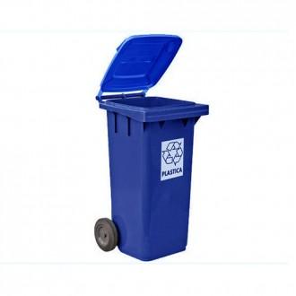 5291 Контейнер для мусора с крышкой зеленый 240л. Киев. фото 1