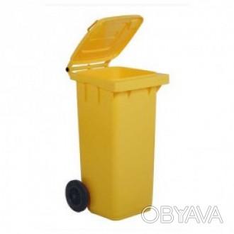 5050Y Контейнер пласт. для мусора с колесами 120 л Контейнер для мусора - мобиль. Киев, Киевская область. фото 1