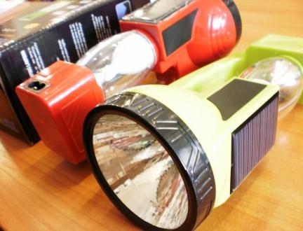 Фонарик 2 в1 на солнечной батарее 20 см TOPWELL YJ-7812. Одесса. фото 1