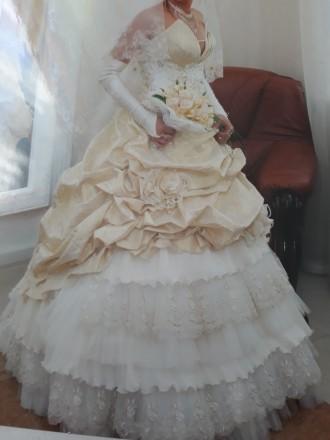 продам свадебное платье.. Добровеличковка. фото 1