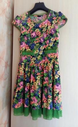 Летнее платье размер s б/у. Кременчуг. фото 1