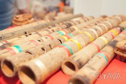 Деревянные и бамбуковые классические и этнические инструменты для звука духа и . Львов, Львовская область. фото 1