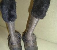 новые сапоги р27-17см стелька -кожа - прогадали с размером - только на худенькую. Киев, Киевская область. фото 4