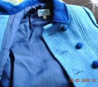 Продаю пальто, синего цвета. в отличном состоянии, практически не ношенное. Заме. Киев, Киевская область. фото 3